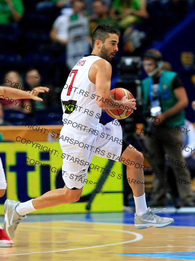 Spain national basketball team player Navarro Juan Carlos during round 2, group E, basketball game between Spain and Serbia in Vilnius, Lithuania, Eurobasket 2011, Friday, September 9, 2011. (photo: Pedja Milosavljevic)