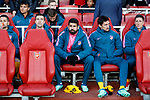 Atletico's Diego Costa looks on from the bench during the Europa League Semi Final 1st Leg, match at the Emirates Stadium, London. Picture date: 26th April 2018. Picture credit should read: David Klein/Sportimage