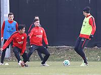Marijan Cavar (Eintracht Frankfurt), Carlos Salcedo (Eintracht Frankfurt), Luka Jovic (Eintracht Frankfurt) und Alexander Meier (Eintracht Frankfurt) - 06.03.2018: Eintracht Frankfurt Training, Commerzbank Arena