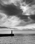 Seaham harbour and lighthouse, County Durham, England