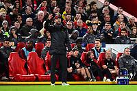 Liverpool manager Jürgen Klopp  reacts<br /> <br /> Photographer Richard Martin-Roberts/CameraSport<br /> <br /> UEFA Champions League Group C - Liverpool v Crvena Zvezda - Wednesday 24th October 2018 - Anfield - Liverpool<br />  <br /> World Copyright ¬© 2018 CameraSport. All rights reserved. 43 Linden Ave. Countesthorpe. Leicester. England. LE8 5PG - Tel: +44 (0) 116 277 4147 - admin@camerasport.com - www.camerasport.com