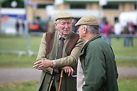 Two farmers chatting at the 2018  Kelso Ram Sales<br /> &copy;Tim Scrivener Photographer 07850 303986<br />      ....Covering Agriculture In The UK....
