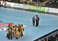 EHF Champions League Handball Damen / Frauen / Women - HC Leipzig HCL : SD Itxako Estella (spain) - Arena Leipzig - Gruppenphase Champions League - im Bild: Auszeit HCL Timeout Team Mannschaft. Foto: Norman Rembarz .