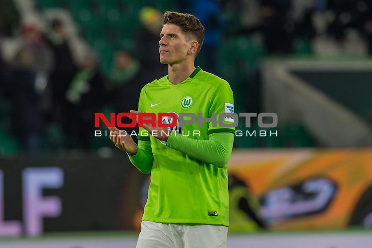 24.02.2017, Volkswagen Arena, Wolfsburg, GER, 1.FBL, VfL Wolfsburg vs SV Werder Bremen<br /> <br /> im Bild<br /> Mario Gomez (VFL Wolfsburg #33), <br /> <br /> Foto &copy; nordphoto / Ewert