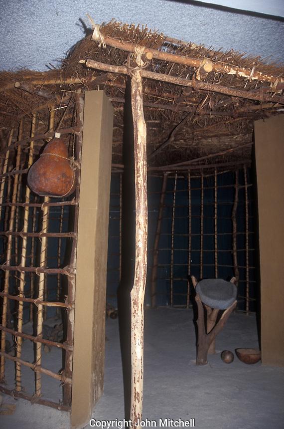 Replica of an ancient Mayan kitchen at Joya de Ceren archaeological site, El Salvador, Central America