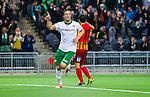 Stockholm 2014-09-21 Fotboll Superettan Hammarby IF - Syrianska FC :  <br /> Hammarbys Linus Hallenius jublar efter sitt 5-0 m&aring;l<br /> (Foto: Kenta J&ouml;nsson) Nyckelord:  Superettan Tele2 Arena Hammarby HIF Bajen Syrianska FC SFC jubel gl&auml;dje lycka glad happy