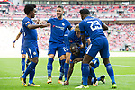 Victor Moses of Chelsea celebrates scoring the opening goal during the The FA Community Shield match at Wembley Stadium, London. Picture date 6th August 2017. Picture credit should read: Charlie Forgham-Bailey/Sportimage