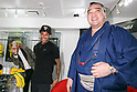 GaGa MILANO CEO Ruben Tomella (L) takes pictures to Neymar Jr (C) and Japanese sumo wrestler Harumafuji Kohei (R) at GaGa MILANO Harajuku store on May 30, 2017, Tokyo, Japan. Many fans gathered in front of GaGa MILANO store in Tokyo's fashion district of Harajuku to get a glimpse of their idol. The Brazilian soccer player is in Japan to promote GaGa Milano watches. The brand is celebrating their 8th anniversary since its launch in Japan. (Photo by Rodrigo Reyes Marin/AFLO)