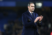 Swansea City manager Paul Clement after the final whistle of the Premier League match between Chelsea and Swansea City at Stamford Bridge, London, England, UK. Wednesday 29 November 2017