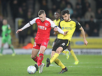 Fleetwood Town's Paul Coutts  in action with Burton Albion's Scott Fraser<br /> <br /> Photographer Mick Walker/CameraSport<br /> <br /> The EFL Sky Bet League One - Burton Albion v Fleetwood Town - Saturday 11th January 2020 - Pirelli Stadium - Burton upon Trent<br /> <br /> World Copyright © 2020 CameraSport. All rights reserved. 43 Linden Ave. Countesthorpe. Leicester. England. LE8 5PG - Tel: +44 (0) 116 277 4147 - admin@camerasport.com - www.camerasport.com