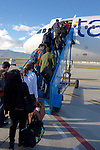 Boarding Plane in Quito On The Way to Tiputini