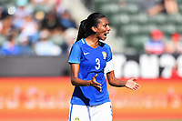 Carson, CA - Thursday August 03, 2017: Bruna Benites during a 2017 Tournament of Nations match between the women's national teams of Australia (AUS) and Brazil (BRA) at the StubHub Center.