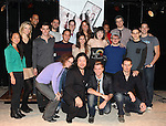 The cast and Creative team attending the 'BARE' celebrates National Coming Out Day at the Snapple Theater Center on October 11, 2012 in New York City.