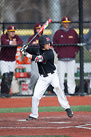 Kevin Welsh (2) of the Rutgers Scarlet Knights at bat against the Iona Gaels at City Park on March 8, 2017 in New Rochelle, New York.  The Scarlet Knights defeated the Gaels 12-3.  (Brian Westerholt/Four Seam Images)
