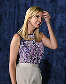 Ivanka Trump arrives to hear United States President Donald J. Trump deliver remarks to military personnel and families in a hanger at Joint Base Andrews in Maryland on Friday, September 15, 2017.  He visited JBA to commemorate the 70th anniversary of the US Air Force.<br /> Credit: Ron Sachs / CNP