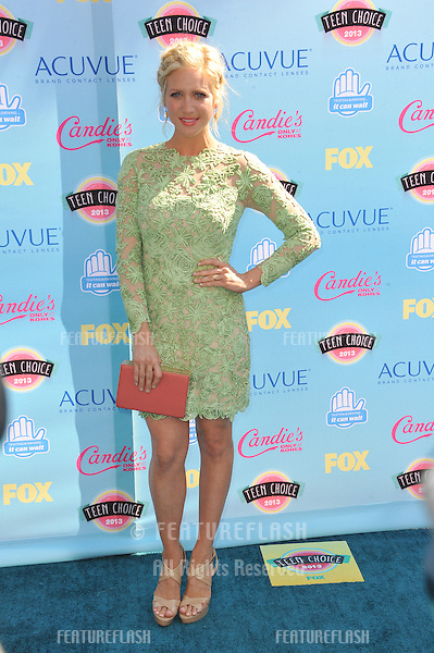 Brittany Snow at the 2013 Teen Choice Awards at the Gibson Amphitheatre, Universal City, Hollywood.<br /> August 11, 2013  Los Angeles, CA<br /> Picture: Paul Smith / Featureflash