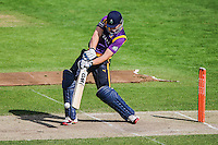 Picture by Harry Whitehead/SWpix.com - 02/05/2014 - T20 County Cricket - Yorkshire Vikings 2nd XI v Lancashire Lightining 2nd XI - Headingley Stadium, Leeds, Yorkshire, England - Alex Lees hits out