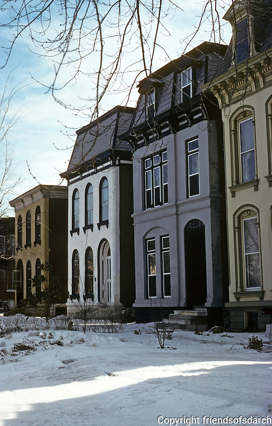 St. Louis: Row Houses, Park near Jefferson. Photo '78.