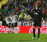 Partido disputado en el Estadio Ciudad de Valencia entre los equipos del Levante UD y el Valencia CF, perteneciente a la Jornada 12 de la Liga BBVA.