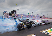 Apr 27, 2014; Baytown, TX, USA; NHRA top fuel dragster driver Shawn Langdon during the Spring Nationals at Royal Purple Raceway. Mandatory Credit: Mark J. Rebilas-USA TODAY Sports