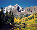 THE MAROON BELLS<br /> NEAR ASPEN, COLORADO