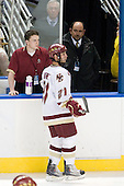 Steven Whitney (BC - 21), Jerry York (BC - Head Coach), John the bus driver - The Boston College Eagles defeated the Yale University Bulldogs 9-7 in the Northeast Regional final on Sunday, March 28, 2010, at the DCU Center in Worcester, Massachusetts.