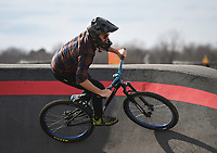 """Zach Springer, 34, of Bentonville practices riding for the Red Bull Pump Track World Championship qualifier, Sunday, January 26, 2020 at the Runway Bike Park in Springdale. Check out nwaonline.com/200127Daily/ for today's photo gallery.<br /> (NWA Democrat-Gazette/Charlie Kaijo)<br /> <br /> The Redbull Pump Track World Championship qualifier is on April 25th at the Runway Bike Park. """"We found Red Bull was hosting the championship and they're coming back. This is the only place in the US that hosts that,"""" said Andrew Schacherbauer who's practicing to qualify. """"There was someone who podiumed to qualify for this year's championship. It's inspiring to know someone local get in."""""""