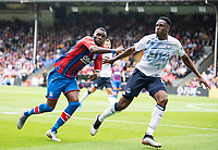 Crystal Palace Christian Benteke and Everton Lucas Digne during the Premier League match between Crystal Palace and Everton at Selhurst Park, London, England on 10 August 2019. Photo by Andrew Aleksiejczuk / PRiME Media Images.