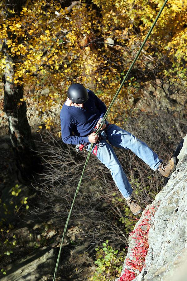 repel climb blue ridge rock