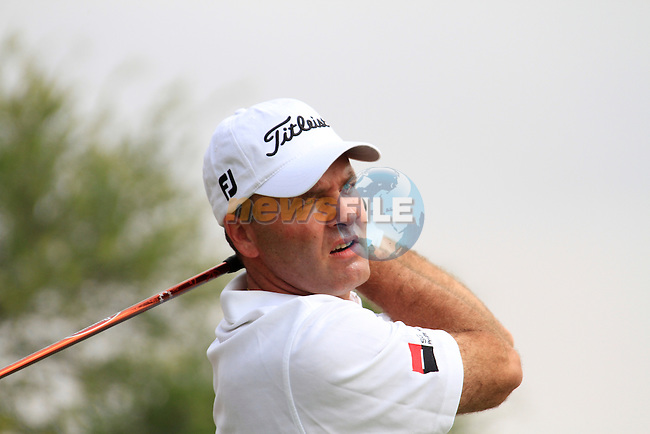 Thomas Levet tees off on the 11th tee during Thusday Day 1 of the Abu Dhabi HSBC Golf Championship, 20th January 2011..(Picture Eoin Clarke/www.golffile.ie)
