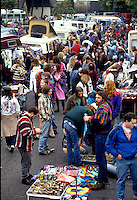 Deadheads from around the country gather in Oakland for an annual pilgrimage to attend a series of concerts over New Years.   Many camped out for days in the parking lot of the Oakland Coliseum,  where merchandise of all kinds is peddled day and night.