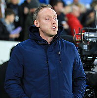 29th November 2019; Liberty Stadium, Swansea, Glamorgan, Wales; English Football League Championship, Swansea City versus Fulham; Steve Cooper manager of Swansea City before kick off - Strictly Editorial Use Only. No use with unauthorized audio, video, data, fixture lists, club/league logos or 'live' services. Online in-match use limited to 120 images, no video emulation. No use in betting, games or single club/league/player publications