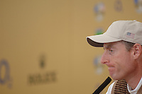 19th September, 2006. Dublin Ireland. Ryder Cup press Conference at the K club..American Ryder Cup team player Jim Furyk gives a press conference at the above..Photo: Barry Cronin/ Newsfile.