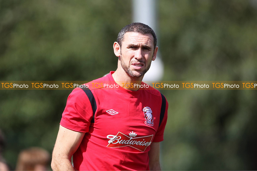 Martin Keown of Wembley issues instruction from the touchline - Uxbridge vs Wembley - FA Cup Preliminary Round Football at Honeycroft, Uxbridge, Middlesex - 26/08/12 - MANDATORY CREDIT: Andy Nunn/TGSPHOTO - Self billing applies where appropriate - 0845 094 6026 - contact@tgsphoto.co.uk - NO UNPAID USE.