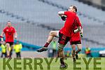 Darran O'Sullivan Glenbeigh Glencar in action against  Rock Saint Patricks in the Junior Football All Ireland Final in Croke Park on Sunday.