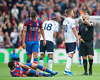 Everton Morgan Schneiderlin no 18 reciving red card during the Premier League match between Crystal Palace and Everton at Selhurst Park, London, England on 10 August 2019. Photo by Andrew Aleksiejczuk / PRiME Media Images.