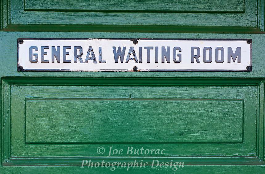 General Waiting Room Door CN Fort Langley Train Station, Fort Langley B.C.
