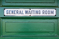 General Waiting Room Door CN Fort Langley Train Station, Fort Langley B.C.
