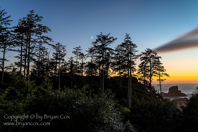 Sunset, Ecola State Park, Oregon