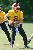 Washington Redskins quarterback Kirk Cousins (8) participates in the Veteran Minicamp at Redskins Park in Ashburn, Virginia on Tuesday, June 14, 2016.<br /> Credit: Ron Sachs / CNP