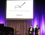 Gabriel Mangiante & Eric Schaeffer.performing at the Signature Theatre Stephen Sondheim Award Gala honoring Patti Lupone at the Embassy of Italy in Washington D.C. on 4/16/2012.