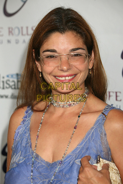 "LAURA SAN GIACOMO.4th Annual ""Night By the Ocean"" Gala Benefitting the Life Rolls On Foundation at the Beverly Hills Hotel, Beverly Hills, California, USA..July 22nd, 2007.headshot portrait glasses necklace beads .CAP/ADM/BP.©Byron Purvis/AdMedia/Capital Pictures"