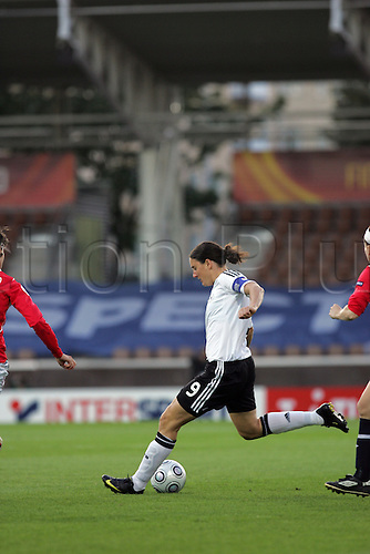 7th September 2009: 9 Birgit Prinz of Germany shoots. Germany beat Norway 3-1 in the Semi-Final match  of the UEFA Women's Euro 2009 at the Helsinki Football Stadium in Helsinki. Photo: Mark Hodsman/ActionPlus.
