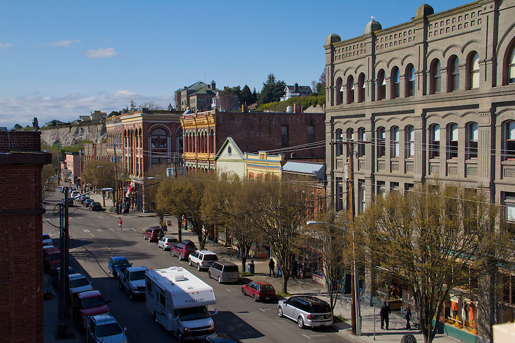 Port Townsend, Water Street, Victorian architecture, Jefferson County, Olympic Peninsula, Washington State, Port Townsend Historic District, shopping,
