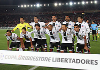 BOGOTÁ-COLOMBIA-26- FEBRERO-2015.Formacion del Colo Colo de Chile contra Independiente Santa Fe partido por la segunda fase, llave G1, de la Copa Bridgeestone Libertadores 2015 jugado en el estadio Nemesio Camacho El Campin de la ciudad de Bogotá. OF Team of  Colo Colo of Chile  against Independiente Santa Fe  match for the second phase, G1 key, of the Copa Bridgestone Libertadores 2015 played at Nemesio Camacho El Campin stadium in Bogota city