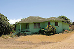 Hawaii: Molokai, leper colony at Kalaupapa, typical house..Photo himolo160-71875.Photo copyright Lee Foster, www.fostertravel.com, lee@fostertravel.com, 510-549-2202