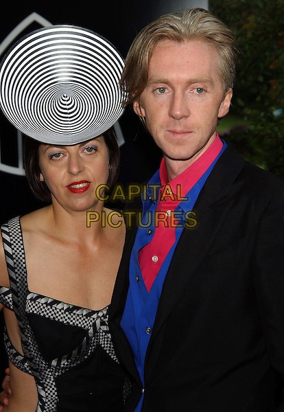 PHILIP TREACY.Mercedes-Benz launch of new Maybach car and Tatler magazine summer party in Portman Square..www.capitalpictures.com.sales@capitalpictures.com.©Capital Pictures.designer hat, black and white