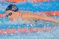 15 October 2010:  FIU's Elly James competes in the 200 yard individual medley during the meet between the FIU Golden Panthers and the University of Miami Hurricanes at the Norman Whitten Student Union Pool in Coral Gables, Florida.