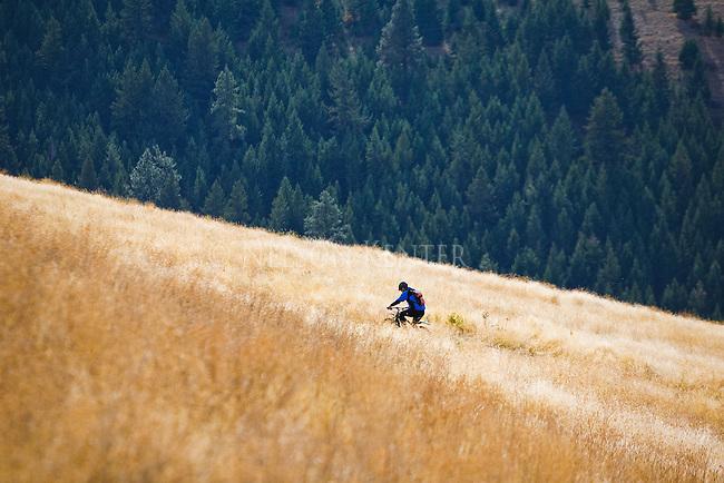 Mountain biking on Mount Sentinel in Missoula Montana