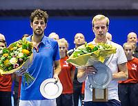 Rotterdam, Netherlands, December 18, 2016, Topsportcentrum, Lotto NK Tennis, Botec van de Zandschulp (r) wins de National Championships by defeating Robin Haase in the final.<br /> Photo: Tennisimages/Henk Koster